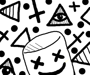 Marshmello and cryptic symbols