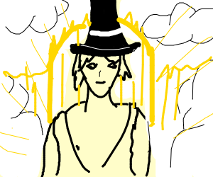 God wearing a Top Hat
