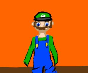 Mario puts on Luigi's costume