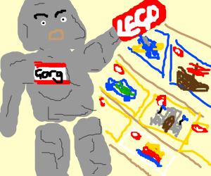 EVil Stone Giant Named Gorg Wants Legos