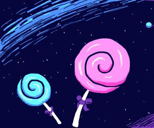 space lollipops