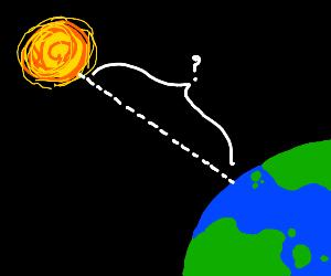 the sun is 149,600,000 kilometers away