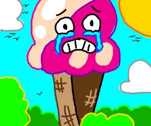 Sad ice cream