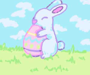 Easter bunny hugs eg