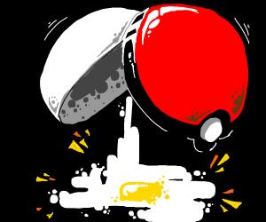 Pokeball egg yolk