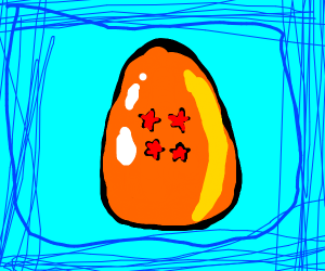 An egg shaped dragonball