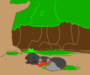 Bleeding wolf/feline