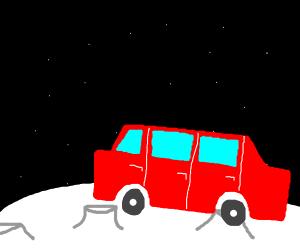 Car on the moon