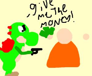 Yoshi the mugger