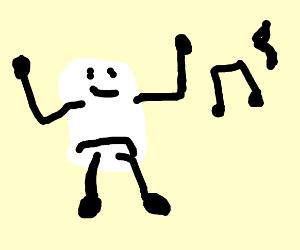 a dancing marshmallow