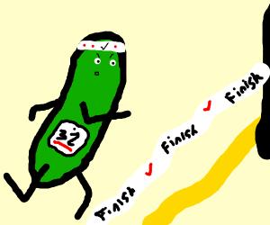 Pickle runs a race