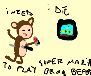 A Monkey Plays Super Mario Bros while He dies