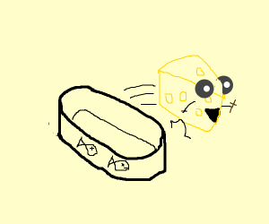 holy cheese breaks forth from his sardine can