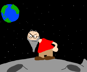 old man and the moon