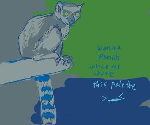 lemur on a tree branch