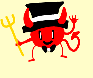 Satan wearing a Hat