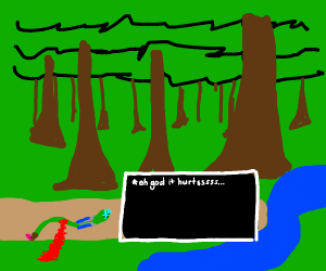 sans but he is a bleeding snake in the jungle