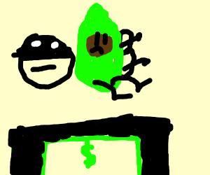 Thief buying an Avocado