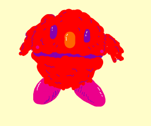 Kirby with elmo powers