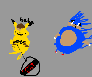 Detective Pikachu steals Sonic's THUNDER