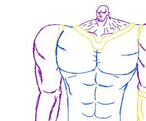 thanos is too stronk