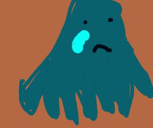 Sad blue squid