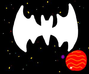 Batman symbol in space