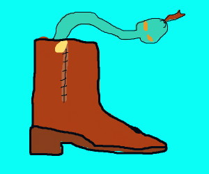theres a snek in mah boot