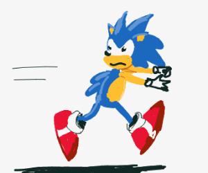 sonic runs away