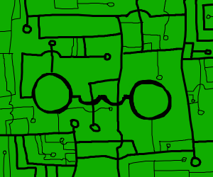 OwO On Green Background