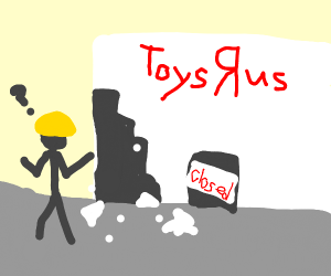 construction worker cant fix closed toys r us