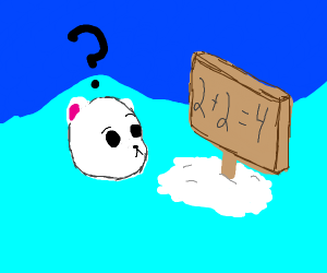 Polar bear learns math