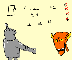 Bender playing Hangman
