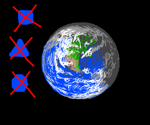 The Earth's round.