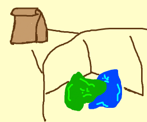 two blobs fight in a paper bag.