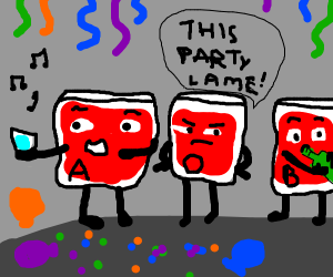 blood types at a party
