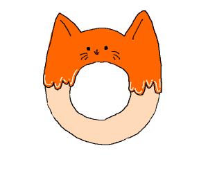 Cat bagel