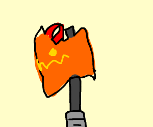 Sentient orange axe demon