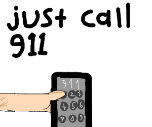 just call 911