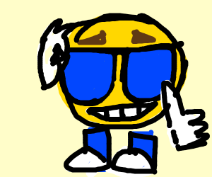 Smiling sun w/ sunglasses thumbs up meme
