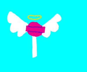 lollipop with wings?