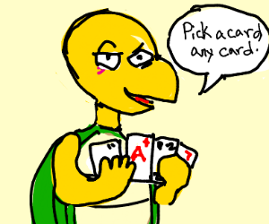 koopa wants you to pick a card