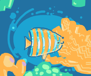striped fish in ocean