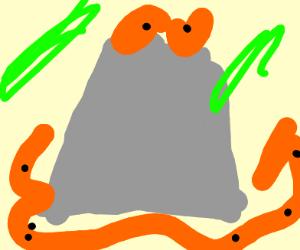 volcano exploding