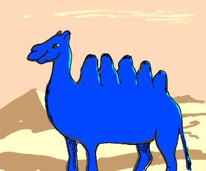 A 5-humped blue camel