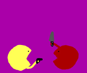 pac men killing eachother