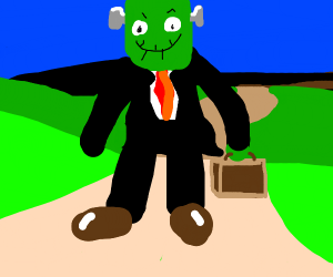 frankenstein in a business suit