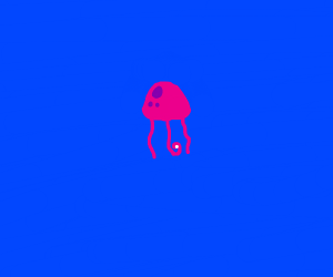 a jellyfish eating a white orb