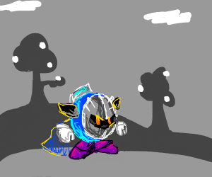Metaknight is mildly annoyed from no colour
