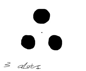 three black dots